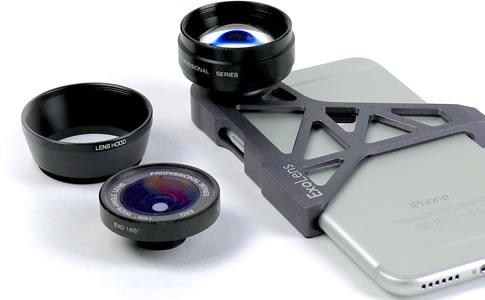 iPhone için üretilmiş özel lensler