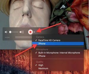 iPhone ekran görünütüsünü video olarak kayıt etmek
