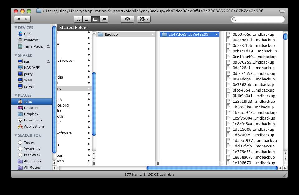 Mac iphone Yedek Saklama Yeri