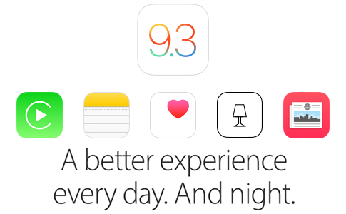 iOS 9.3 Özellikleri