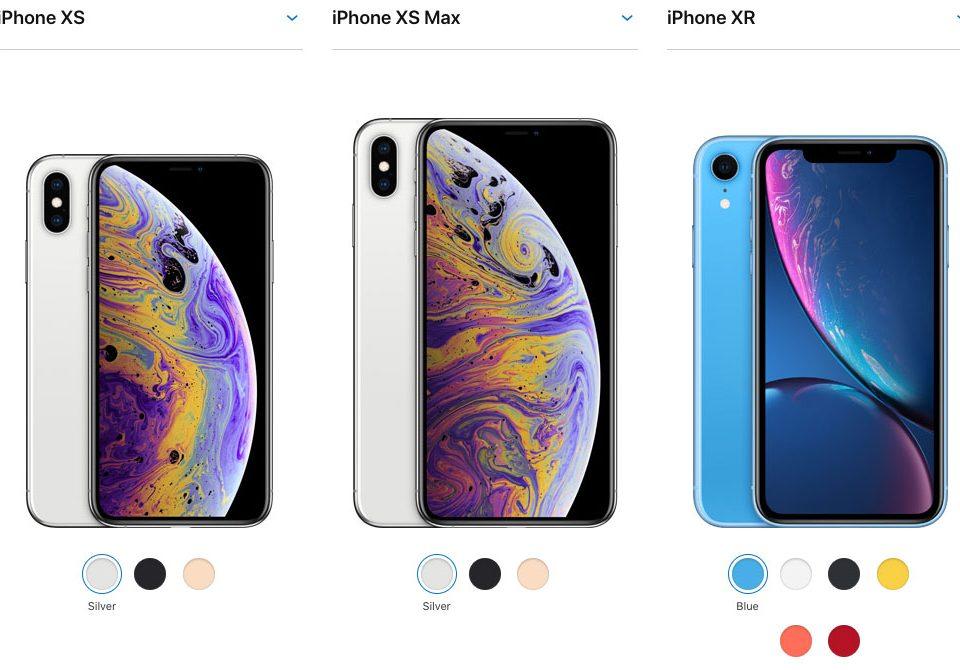 iPhone XS, iPhone XS Max ve iPhone XR karşılaştırması