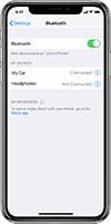iPhone hoparlör sorununun tespiti için bluetooth u kapalı konuma getirin